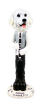 Great Pyrenees Clarinetist Doogie Collectable Figurine