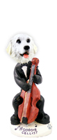 Great Pyrenees Cellist Doogie Collectable Figurine
