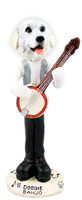 Great Pyrenees Banjo Doogie Collectable Figurine