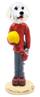 Great Pyrenees Construction Worker Doogie Collectable Figurine