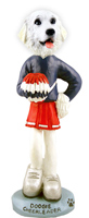Great Pyrenees Cheerleader Doogie Collectable Figurine