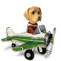 Rhodesian Ridgeback Airplane Doogie Collectable Figurine