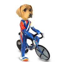 Rhodesian Ridgeback Bicycle Doogie Collectable Figurine