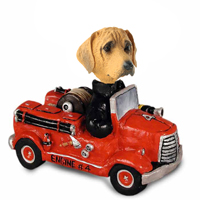 Rhodesian Ridgeback Fire Engine Doogie Collectable Figurine