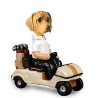 Rhodesian Ridgeback Golf Cart Doogie Collectable Figurine