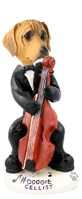 Rhodesian Ridgeback Cellist Doogie Collectable Figurine