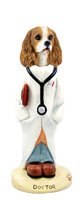 Cavalier King Charles Spaniel Brown & White Doctor Doogie Collectable Figurine
