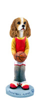 Cavalier King Charles Spaniel Brown & White Basketball Doogie Collectable Figurine