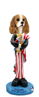 Cavalier King Charles Spaniel Brown & White 4th of July Doogie Collectable Figurine