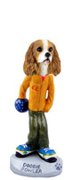 Cavalier King Charles Spaniel Brown & White Bowler Doogie Collectable Figurine
