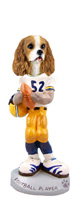 Cavalier King Charles Spaniel Brown & White Football Player Doogie Collectable Figurine
