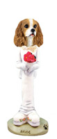 Cavalier King Charles Spaniel Brown & White Bride Doogie Collectable Figurine