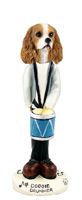 Cavalier King Charles Spaniel Brown & White Drummer Doogie Collectable Figurine