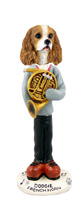Cavalier King Charles Spaniel Brown & White French Horn Doogie Collectable Figurine