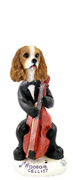 Cavalier King Charles Spaniel Brown & White Cellist Doogie Collectable Figurine