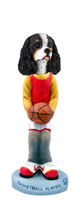 Cavalier King Charles Spaniel Black & White Basketball Doogie Collectable Figurine