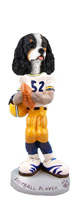Cavalier King Charles Spaniel Black & White Football Player Doogie Collectable Figurine