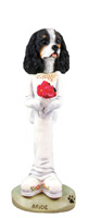 Cavalier King Charles Spaniel Black & White Bride Doogie Collectable Figurine