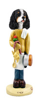 Cavalier King Charles Spaniel Black & White Chef Doogie Collectable Figurine