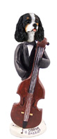 Cavalier King Charles Spaniel Black & White Bassist Doogie Collectable Figurine