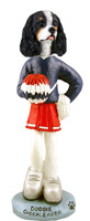 Cavalier King Charles Spaniel Black & White Cheerleader Doogie Collectable Figurine