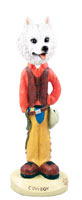 American Eskimo Cowboy Doogie Collectable Figurine