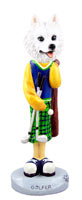American Eskimo Golf Doogie Collectable Figurine