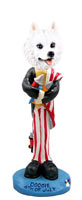 American Eskimo 4th of July Doogie Collectable Figurine