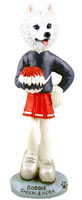 American Eskimo Cheerleader Doogie Collectable Figurine