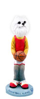 American Eskimo Miniature Basketball Doogie Collectable Figurine
