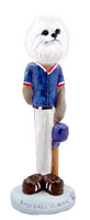 American Eskimo Miniature Baseball Doogie Collectable Figurine