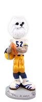 American Eskimo Miniature Football Player Doogie Collectable Figurine
