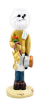 American Eskimo Miniature Chef Doogie Collectable Figurine