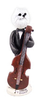 American Eskimo Miniature Bassist Doogie Collectable Figurine