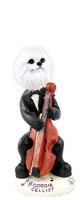 American Eskimo Miniature Cellist Doogie Collectable Figurine