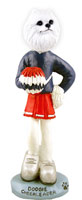 American Eskimo Miniature Cheerleader Doogie Collectable Figurine
