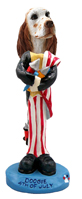 English Setter Orange Belton 4th of July Doogie Collectable Figurine