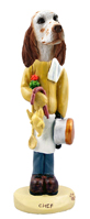 English Setter Orange Belton Chef Doogie Collectable Figurine