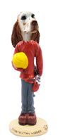 English Setter Orange Belton Construction Worker Doogie Collectable Figurine