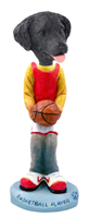 Flat Coated Retriever Basketball Doogie Collectable Figurine