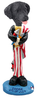 Flat Coated Retriever 4th of July Doogie Collectable Figurine