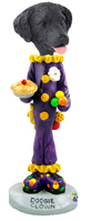 Flat Coated Retriever Clown Doogie Collectable Figurine