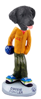 Flat Coated Retriever Bowler Doogie Collectable Figurine