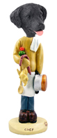 Flat Coated Retriever Chef Doogie Collectable Figurine