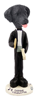 Flat Coated Retriever Conductor Doogie Collectable Figurine