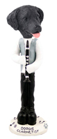 Flat Coated Retriever Clarinetist Doogie Collectable Figurine