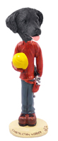 Flat Coated Retriever Construction Worker Doogie Collectable Figurine