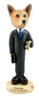 Australian Cattle Dog, RED Businessman Doogie Collectable Figurine