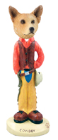 Australian Cattle Dog, RED Cowboy Doogie Collectable Figurine