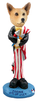 Australian Cattle Dog, RED 4th of July Doogie Collectable Figurine